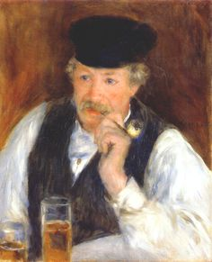 "Pierre-Auguste Renoir (1841–1919). French leading Impressionist painter. ""Monsieur Fournaise"" (Man with a pipe)."