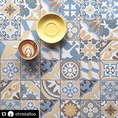 Nice pic beb  #Repost @christalfoo  First time here in this hipster cafe with white spiral staircase and beautiful tiles .. Definite must visit it once! Tried their churros and its so crispy and crunchy!  #tilesinframe #foodiestiles #kopimeo by kopimeo