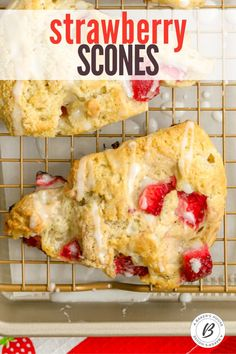 Strawberry Scones are easy to make and a perfect brunch recipe. Once you learn the basics of how to make homemade scones, you can make any scones flavor. #scones #English #teatime #brunch #strawberries How To Make Scones, Mothers Day Desserts, Strawberry Scones, Homemade Scones, Mothers Day Special, How To Make Homemade, Brunch Recipes, Strawberries, Tea Time