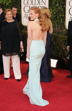 Celeb Diary: Jessica Chastain @ 2013 Golden Globe Awards