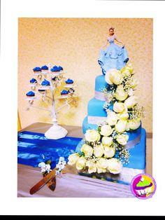 #Sweet #blue #inspiration #cake #quinceñera