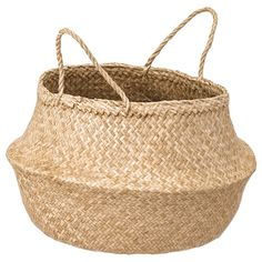 The handwoven rattan gives each basket a distinct and natural expression. This stable basket has many potential uses and is dimensioned for KALLAX shelving, giving it a unique look and function. Kallax, Small Storage, Storage Boxes, Storage Baskets, Storage Containers, Ikea Storage, Storage Hacks, Toy Storage, Nurseries