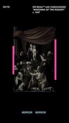 Off-White Caravaggio Wallpaper Iphone Wallpaper Off White, Android Wallpaper Black, Hype Wallpaper, Aesthetic Iphone Wallpaper, Wallpaper Backgrounds, Aesthetic Wallpapers, Mobile Wallpaper, Caravaggio, Wallpapers Android