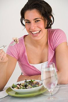 Women Laughing Alone With Salad Women Laughing, People Laughing, Funny Salad, Excited About Life, How To Make Salad, Happy Women, Alone, Lunches And Dinners, Healthy Habits