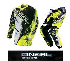 O/'Neal Hardwear Flow Orange Combo Set Hose Jersey Handschuhe Moto Cross MX Quad