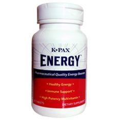K-Pax Energy Tabs. 30 Tablets $24.95