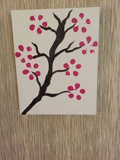 Vendor at Craft Party Nailah Bakari of NYN Creations Etsy Shop, Cherry Blossom Canvas Painting