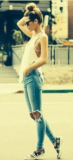 I'm obsessed with ripped jeans