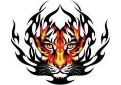 tiger photo vector
