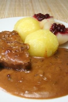 Easy Sauerbraten Sauce _ Serve over spaetzle (see Spaetzle recipe in this book) or quick egg noodles.