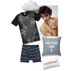 G-Nite by prettyroses on Polyvore featuring Old Navy, Circo, sleepwear, menswear, guy and GuyStyle
