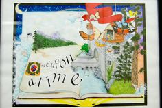 It's alive! Books come to life in this homeschooler's painting from HSLDA's 2011 art contest.