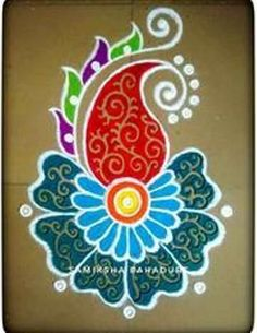 51 Diwali Rangoli Designs Simple and Beautiful - bunny - HotelsPedi Simple Rangoli Designs Images, Rangoli Designs Latest, Rangoli Border Designs, Small Rangoli Design, Rangoli Patterns, Colorful Rangoli Designs, Rangoli Ideas, Beautiful Rangoli Designs, Rangoli Photos