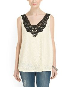 All Over Lace Sleeveless Top - Just In - T.J.Maxx