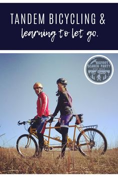 Adventures in riding on the back of a tandem bicycle. Cycling Tips, Cycling Workout, Road Cycling, Tandem Bicycle, Bike, Search Party, Learning To Let Go, Bigfoot, You Fitness