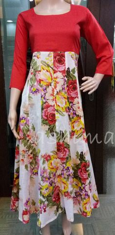 Code:2206162 - Flared Cotton Kurti, Price INR:1890/-