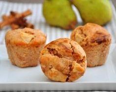 Muffins aux poires et à la cannelle http://www.cuisineaz.com/recettes/muffins-aux-poires-et-a-la-cannelle-65415.aspx