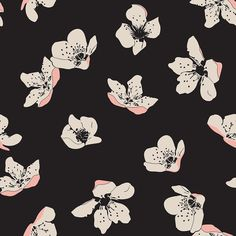 Spring blossom floral pattern by SaryandSaff, surface pattern design, flowers, Sary and Saff,