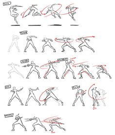 Choi, Jung Wook: Concepts of Thief Movement - Animation Animation Storyboard, Animation Sketches, Drawing Sketches, Drawing Tips, Figure Drawing Reference, Animation Reference, Art Reference Poses, Fighting Drawing, Movement Drawing