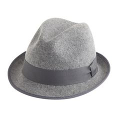 Let's make this the autumn when I start wearing hats. (Classic fedora with grosgrain ribbon in pale grey - J. Crew)