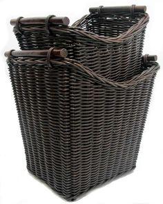 rattan wicker storage baskets