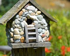 1000 Images About Stone Birdhouses On Pinterest