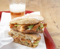 Buffalo Chicken Panini with Blue Cheese and Celery by Fine Cooking