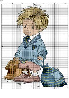 Boy cross stitch