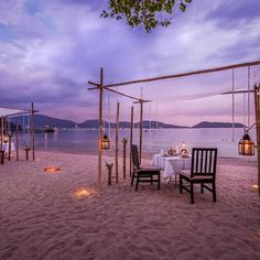 Restaurant at 5 star hotel: Thavorn Beach Village Resort & Spa. This hotel's address is: Moo Nakalay, Kamala Beach Kamala Phuket 83150 and have 185 rooms Thavorn Beach Village, Beaches In Phuket, Restaurant On The Beach, Spa Offers, Romantic Places, Resort Spa, Acre, Greenery, Patio
