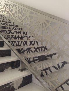 Laser Cut Handrail Privet Villa in Qatar