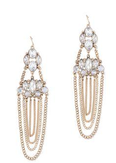 #danglers @Crystal Chou #elegant #earring #handcrafted #gold via @Roposo