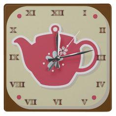 Tea Pot Retro - Clock 1950s