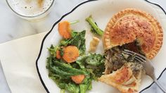 Mushroom and kale royal pie from Pleasant House Pub in Pilsen