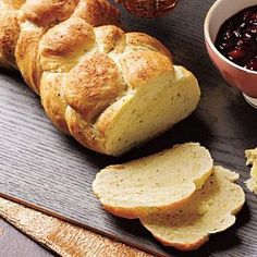 Cheese and Chive Challah Recipe | MyRecipes.com