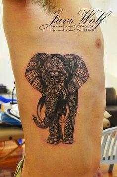 Elephant  Tattooed by Javi Wolf Design by Ben Kwok.