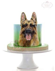 German Shepherd Cake by Cakes by Sian