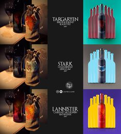 Wines of Westeros \ packaging design by Jaime ClaureInsipiration commissioned a Bolivian designer Jaime Claure to design a collection of three wines, for the label design I was inspired by the name of the family houses iconography itself and the unique …