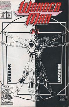 Wonder Man Comic Issue 15 Modern Age First Print 1992 Jones Johnson Dan Panosian - Marvel Vintage Book Covers, Comic Book Covers, Comic Books, Comic Art, Young Avengers, New Avengers, Secret Avengers, Wonder Man, New Warriors