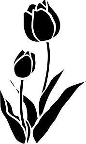 Flower Silhouette Kyoto Stencil - L.Canevassi - - Tulip Flower Silhouette Kyoto Stencil - L.CanevassiTulip Flower Silhouette Kyoto Stencil - L.Canevassi - - Tulip Flower Silhouette Kyoto Stencil - L. Drawing Stencils, Stencil Painting, Fabric Painting, Flower Silhouette, Silhouette Design, Stencil Patterns, Stencil Designs, Plasma Cutter Art, Scroll Saw Patterns