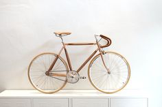 Dots Design Studio Plybike wooden bicycle is a vintage style bike classy and very unique conceptual design for very day use It is a custom bike that is… Wooden Bicycle, Conceptual Design, Dots Design, Vintage Bicycles, Custom Bikes, Vintage Fashion, Product Design, Copper, Branding