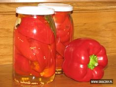 Papryka konserwowa Preserves, Pickles, Salads, Food And Drink, Stuffed Peppers, Canning, Vegetables, Kitchens, Red Peppers