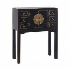 Mueble Chino Consola Negro 2 puertas #Muebles #chinos y #orientales en nuryba.com tu #tienda #online de #decoracion de #interiores en #Madrid