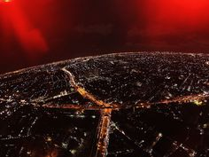 Night landscape shot by DJI Phantom with Gopro.  แยกเกษตร