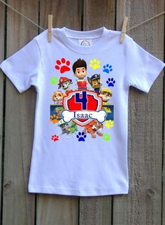 Paw Patrol Rubble Digging 4th Birthday Official Toddler//Kids Long Sleeve T-Shirt