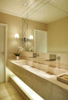 Paola Ribeiro #double #sink #bathroom