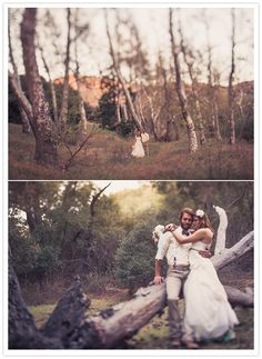 malibu forest bridal session via @100 Layer Cake