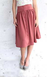 Cute As A Button Skirt [MFS3022] - $44.99 : Mikarose Boutique, did you try this one on already?