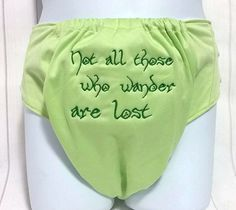 Not All Who Wonder Are Lost Cloth Diaper - LOR Nappy Pocket - Geeky Baby - Baby Cloth Diaper - Embroidered Bloomers - Nerdy Diaper Cover by MonkaDunkCreations on Etsy https://www.etsy.com/listing/385890022/not-all-who-wonder-are-lost-cloth-diaper