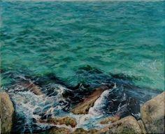 Crete Seashore – Elena Duff Heraklion, The Duff, Crete, Beautiful Places, My Arts, Sea, Landscape, Water, Painting