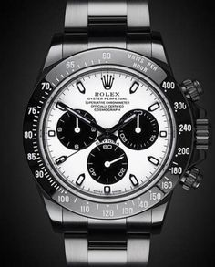 Uniquely customized DLC/PVD black Rolex watches from Titan Black, Rolex & luxury watch customization specialist in UK. Rolex Daytona, Rolex Cosmograph Daytona, Rolex Datejust Ii, Rolex Gmt, Sport Watches, Cool Watches, Man Watches, Rolex Wrist Watch, Black Rolex